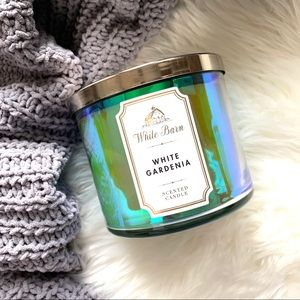 White Barn Iridescent White Gardenia 3-Wick Candle